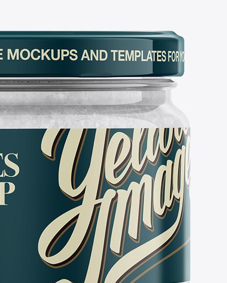 Salt Flakes Jar Mockup