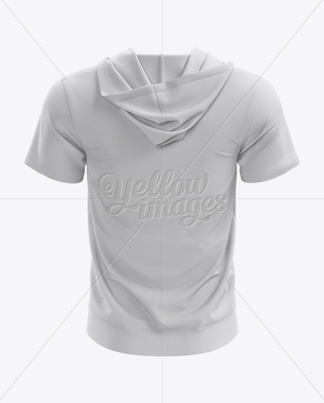Download Short Sleeve Zip Hoodie Mockup Back View In Apparel Mockups On Yellow Images Object Mockups