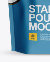 Matte Stand Up Pouch with Zipper Mockup