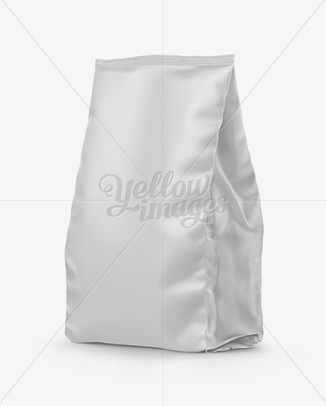 Matte Stand-up Bag Mockup - Half Side View
