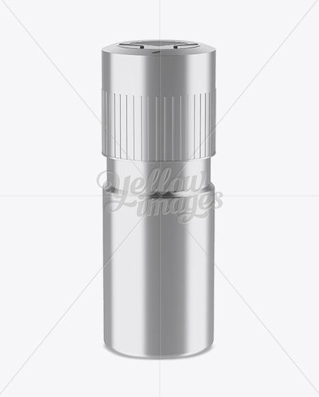 Metallic Plastic Deodorant Mockup (High-Angle Shot)