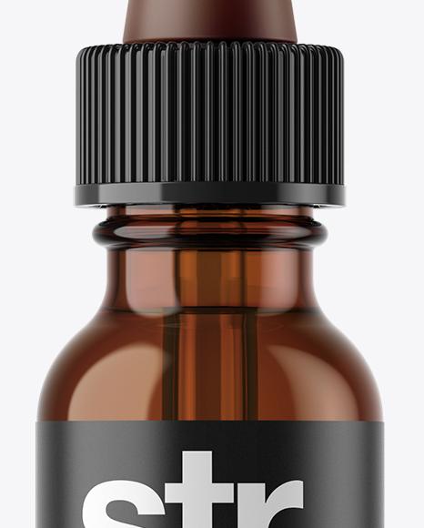 Amber Glass E-Liquid Bottle Mockup