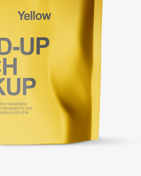 Metallic Stand Up Pouch with Zipper Mockup