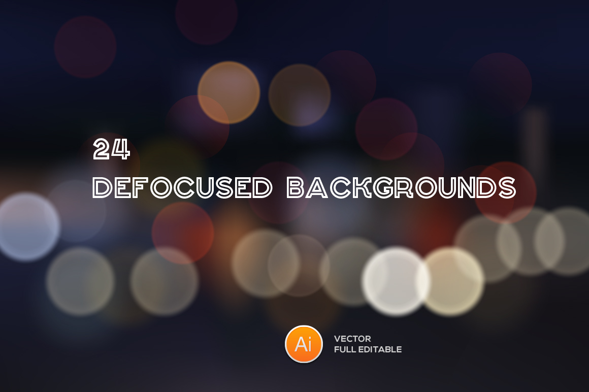 Defocused Backgrounds 24 Vectors
