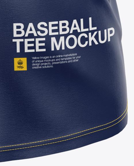 Men's Baseball T-Shirt Mockup - Side View