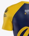 Men's Baseball T-Shirt Mockup - Back View