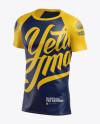 Men's Baseball T-Shirt Mockup - Halfside View
