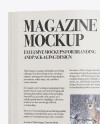 Magazine Mockup - Top View (Closed and Opened)