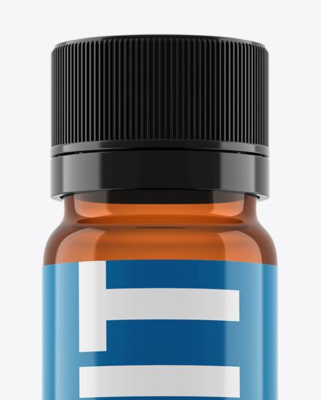 Amber Sport Nutrition Bottle Mockup - Eye-Level Shot