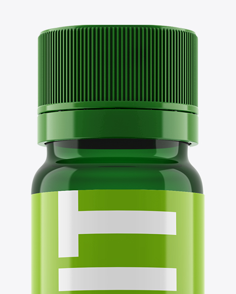 Green Sport Nutrition Bottle Mockup - Eye-Level Shot