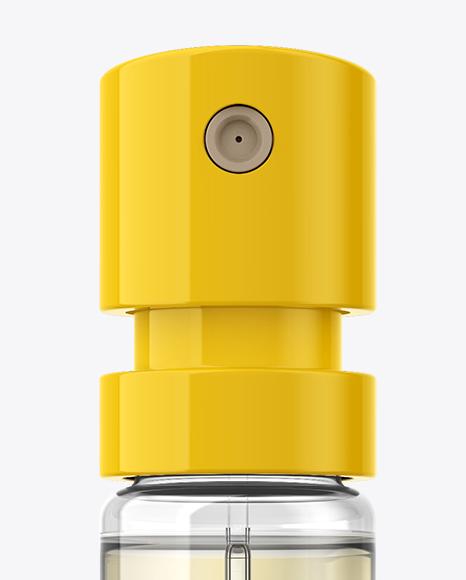 Yellow Perfume Sampler Spray Bottle Mockup