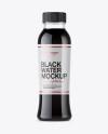 Plastic Black Water Bottle Mockup - Front View