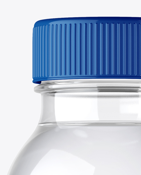 Plastic Water Bottle Mockup - Front View