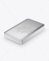 Metallic Tin Box Mockup - Halfside View (High-Angle Shot)