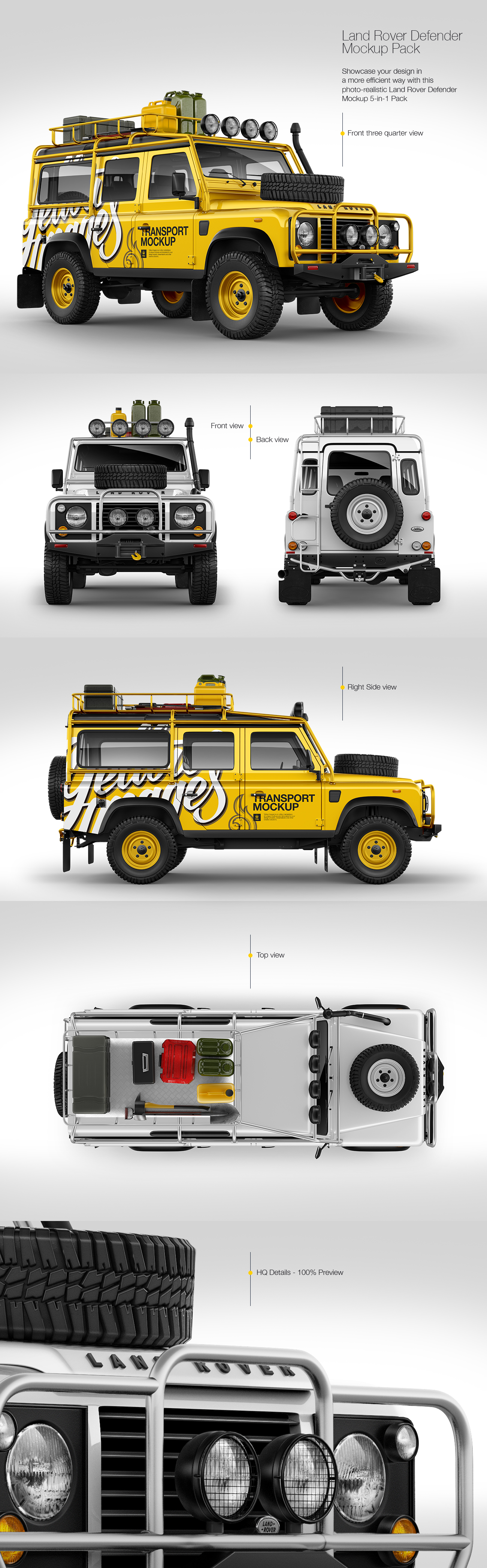 Land Rover Defender Mockup Pack
