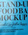 Metallic Stand-up Bag w/ Zipper Mockup - Half Side View