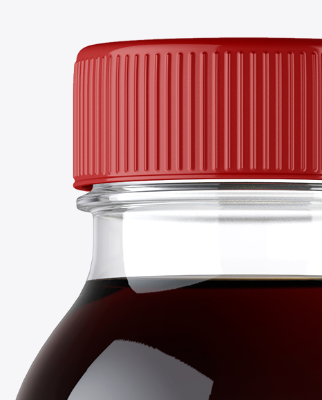 Plastic Bottle With Cola Mockup - Front View