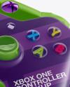 Xbox One Controller Mockup - Halfside View (High-Angle Shot)