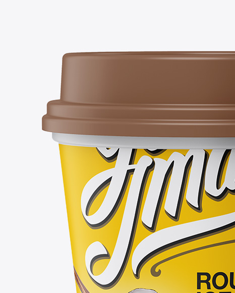 Matte Ice Cream Cup Mockup - Front View