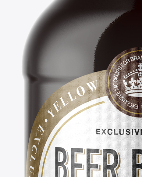 330ml Amber Glass Bottle with Red Ale Mockup