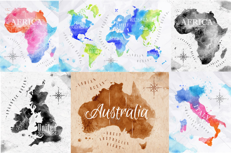 Watercolor world map in Graphics on Yellow Images Creative Store on three-dimensional world map, vintage world map, painting world map, jewelry world map, silver world map, unique world map, sepia world map, artistic world map, illustration world map, colorful world map, flowers world map, creative world map, miniature world map, doodle world map, transparent world map, nature world map, old world map, cute world map, blank world map, abstract world map,