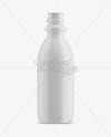Matte Plastic Dairy Bottle Mockup - Front View