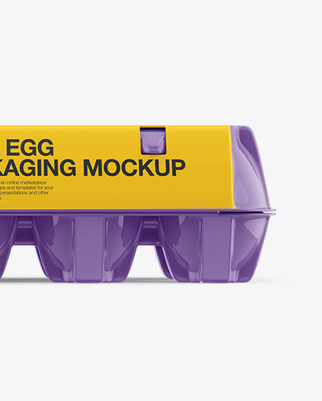 Glossy Egg Container - Front View