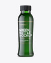 Green Plastic Bottle With Drink Mockup - Front View