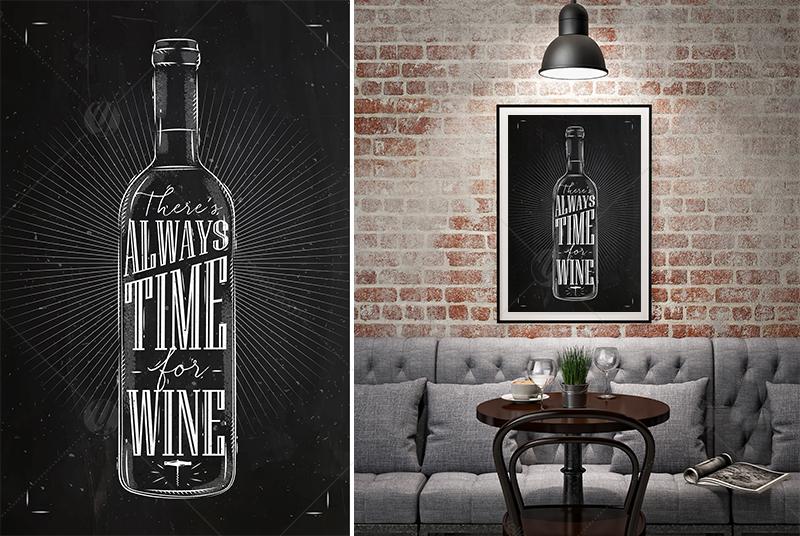 Set Poster Wine