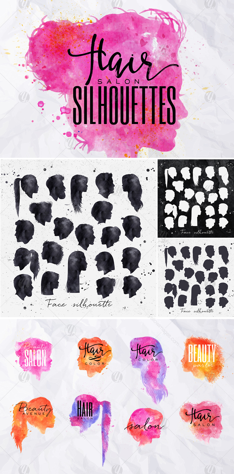 Hair Salon Silhouettes