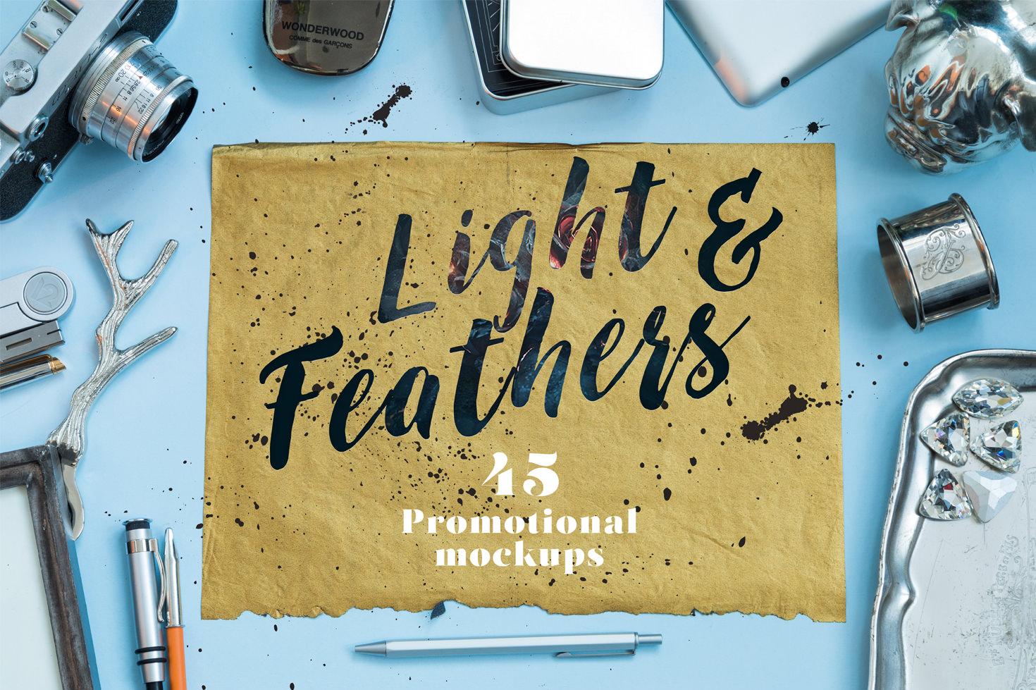 Light & Feathers - Promotional Mockups