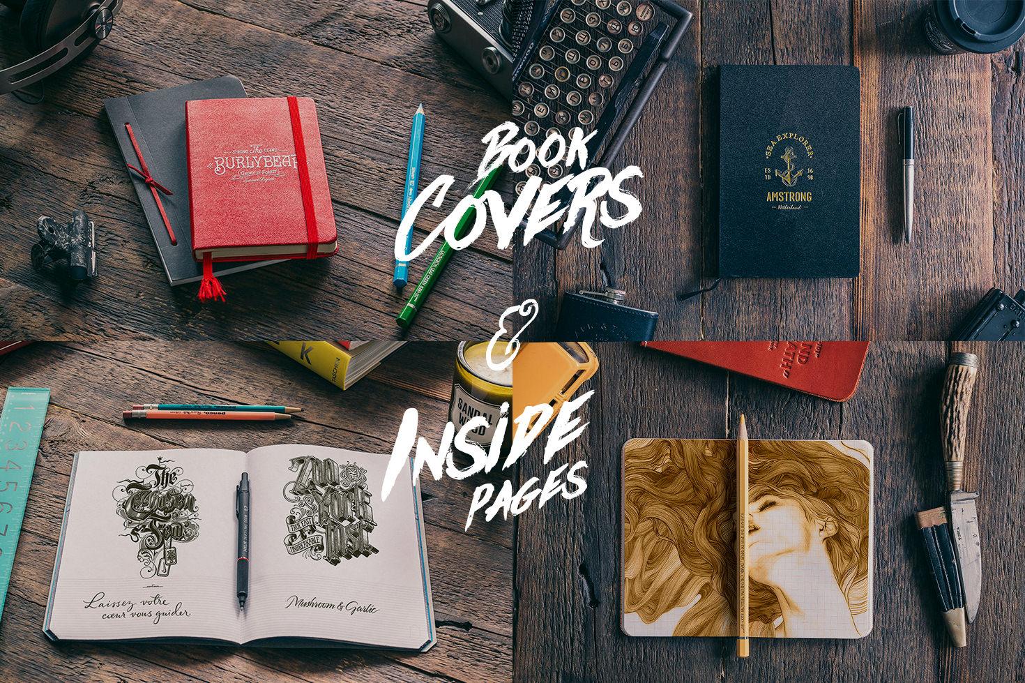50 Notebooks Mockups