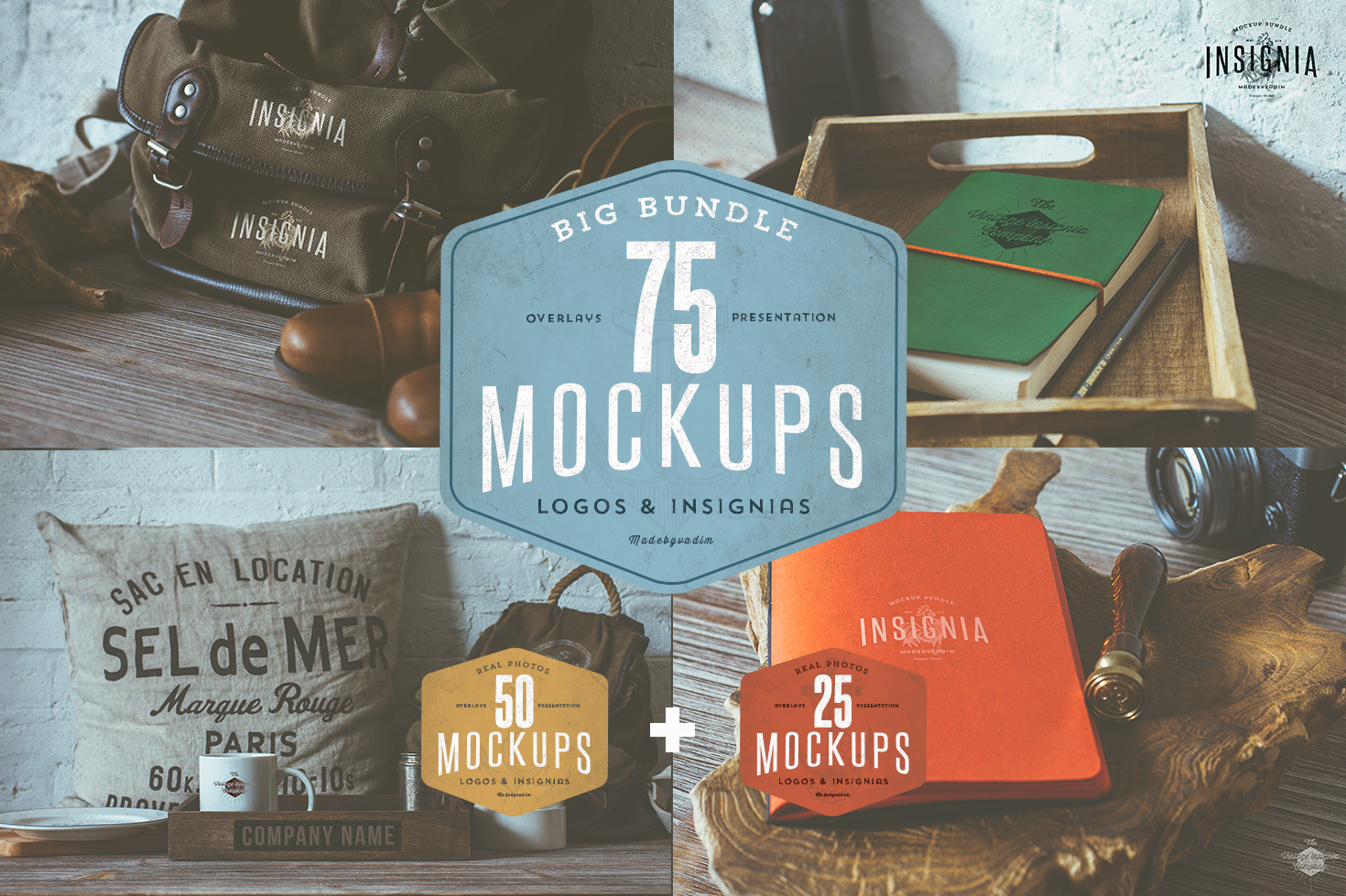 75 Hip Logo Overlay Mock-Ups
