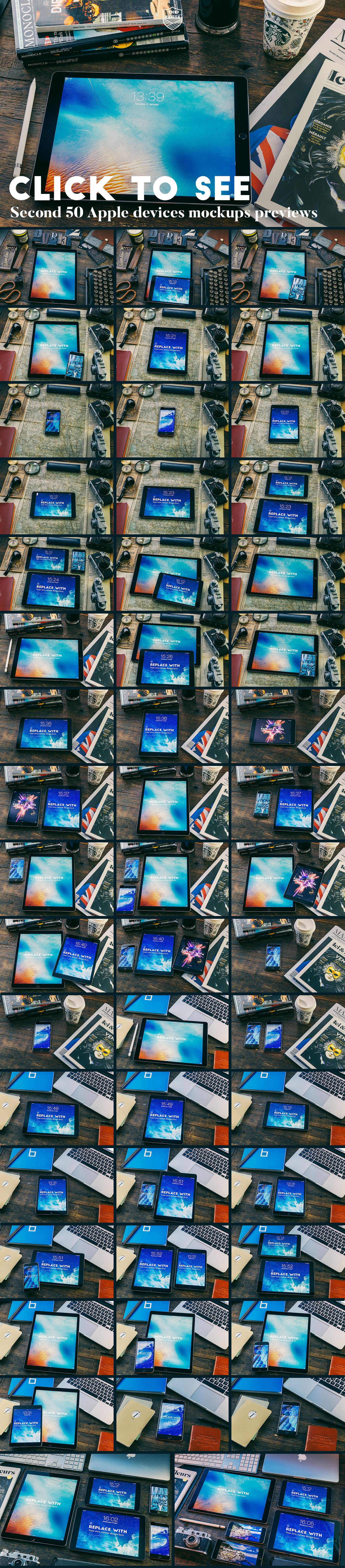 The Range - 100 Apple idevices mockups