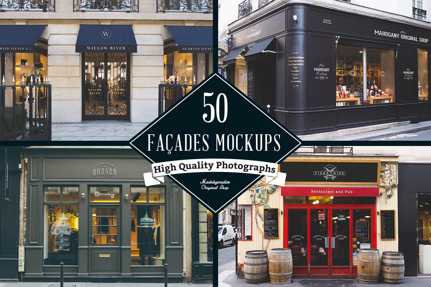 100 Signs & Facades Mockups