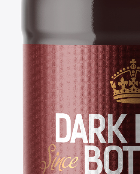 200ml Clear Glass Bottle with Dark Drink Mockup