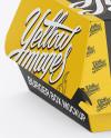 Paper Burger Box Mockup - Halfside View (High-Angle Shot)