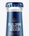 200ml Clear Glass Bottle with Blue Drink Mockup