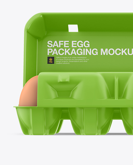 Open Matte Egg Container - Front View