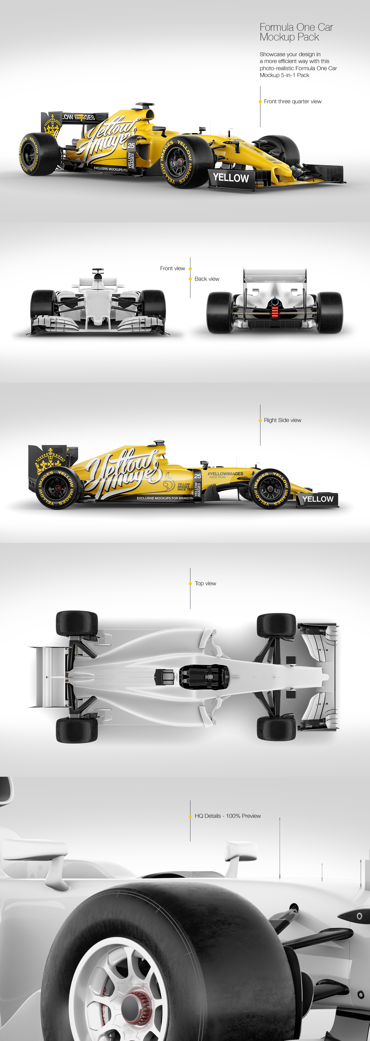 Download Formula One Car Mockup Pack In Handpicked Sets Of Vehicles On Yellow Images Creative Store PSD Mockup Templates