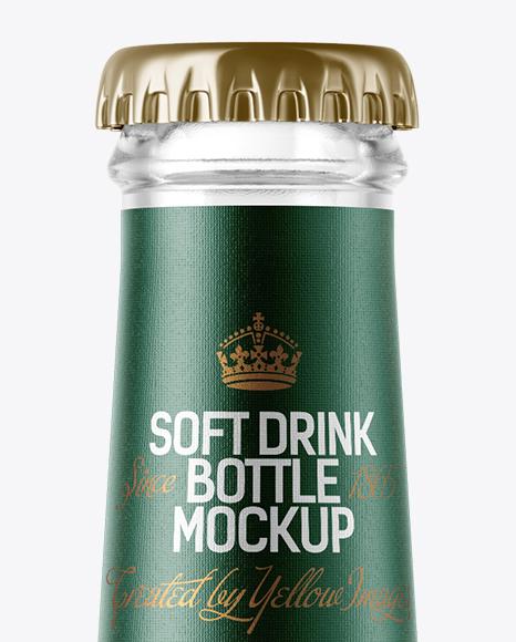200ml Clear Glass Bottle with Lemonade Mockup
