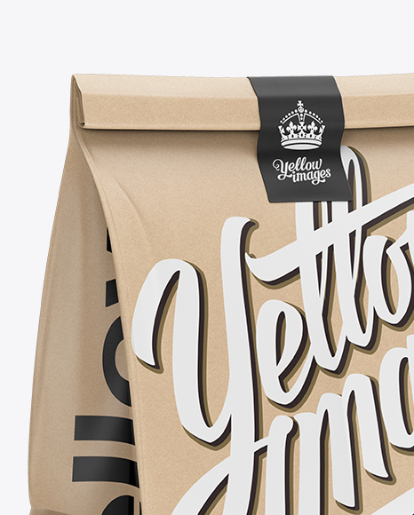 Download Glossy Kraft Paper Shopping Bag Mockup Halfside View PSD - Free PSD Mockup Templates