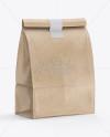 Kraft Paper Bag Mockup - Halfside View