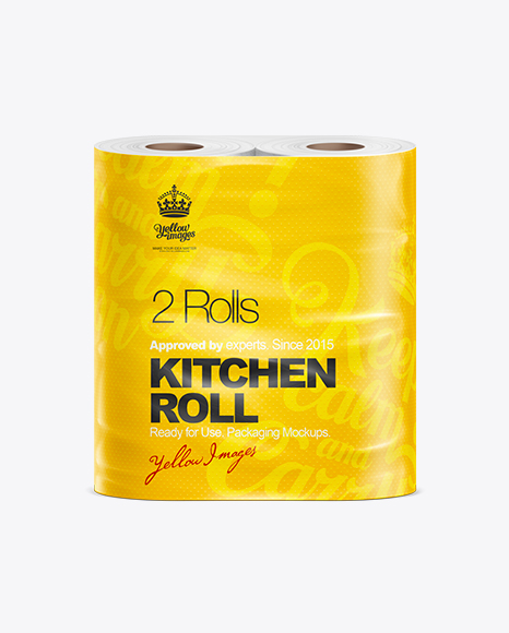Paper Kitchen Towel 2 Rolls Mockup
