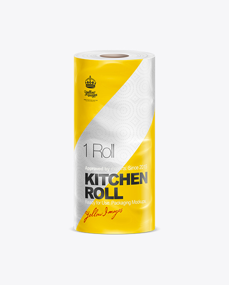 Download Kitchen Roll Towel Mockup In Packaging Mockups On Yellow Images Object Mockups Yellowimages Mockups