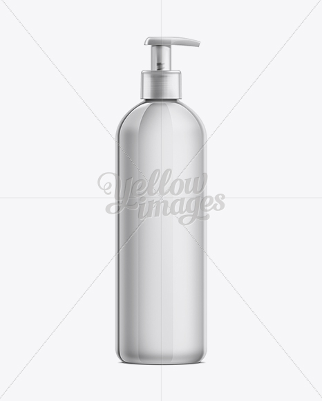 Download Plastic Lotion Bottle With Batcher Mockup In Bottle Mockups On Yellow Images Object Mockups PSD Mockup Templates