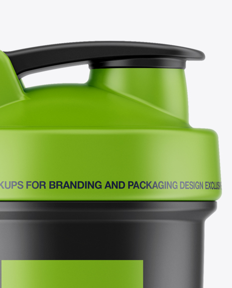 Download Transparent Shaker Bottle Front View PSD - Free PSD Mockup Templates