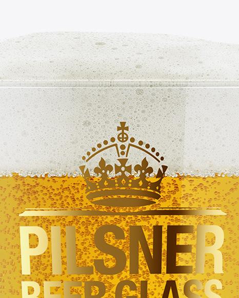 Pilsner Beer Glass Mockup