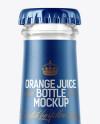 200ml Clear Glass Bottle with Orange Juice Mockup