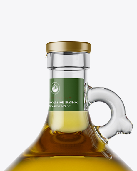 Download 3l Clear Glass Olive Oil Bottle With Handle Mockup In Bottle Mockups On Yellow Images Object Mockups PSD Mockup Templates